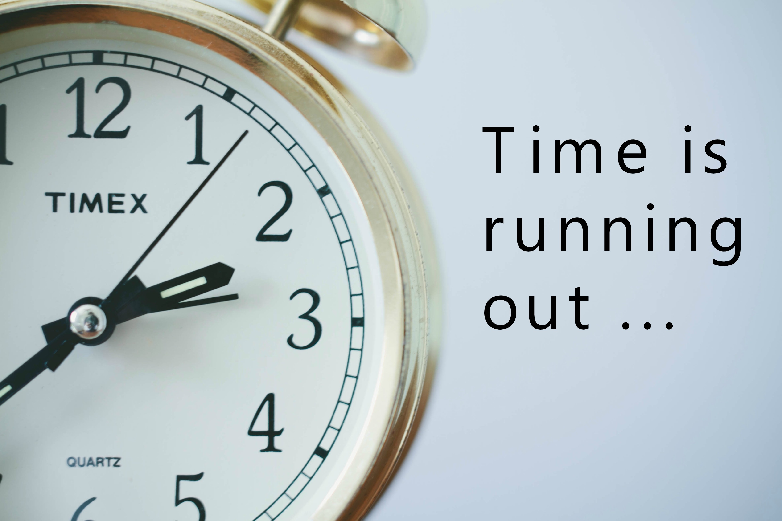 Image result for time is running out